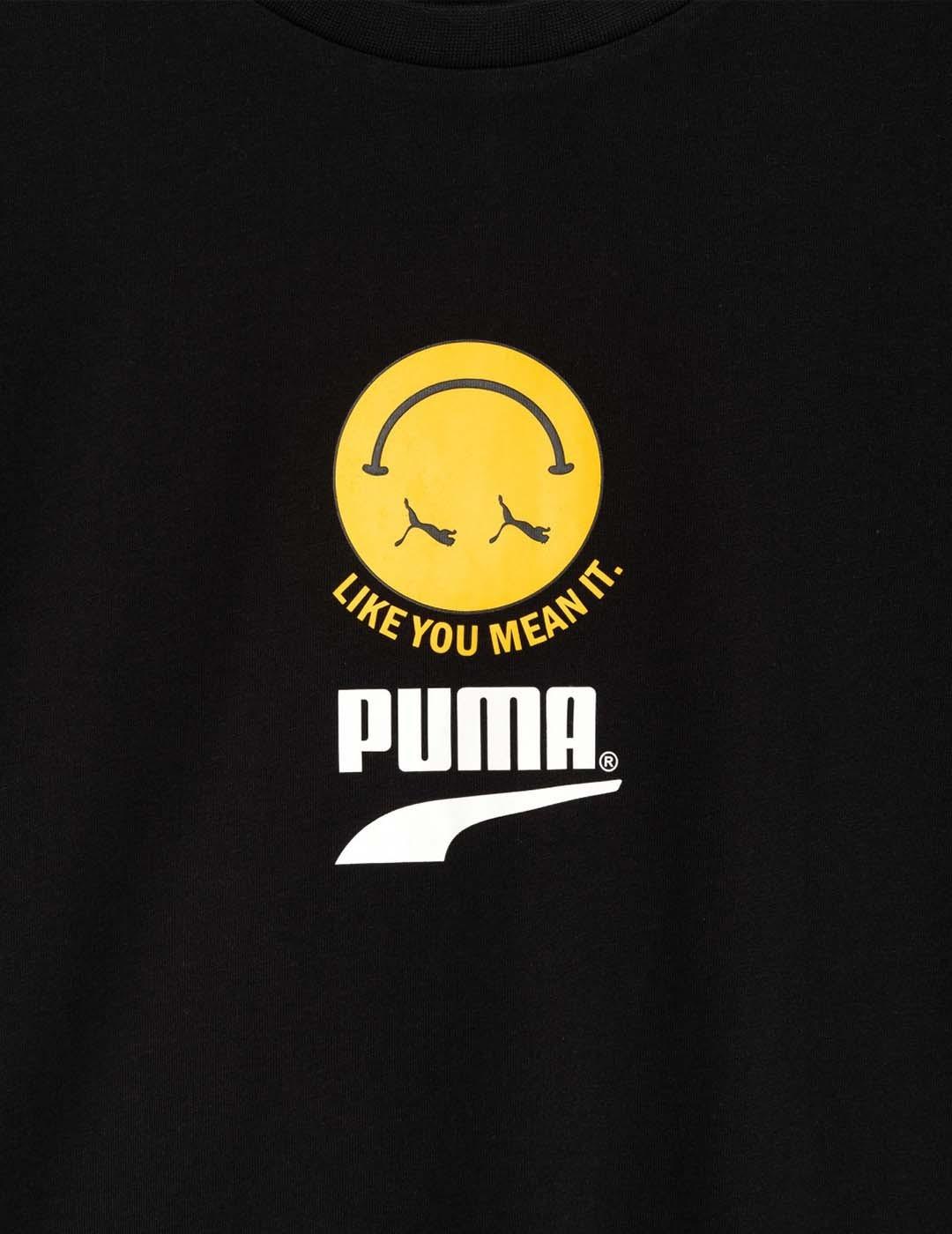 CAMISETA PUMA CLUB GRAPHIC TEE PUMA BLACK