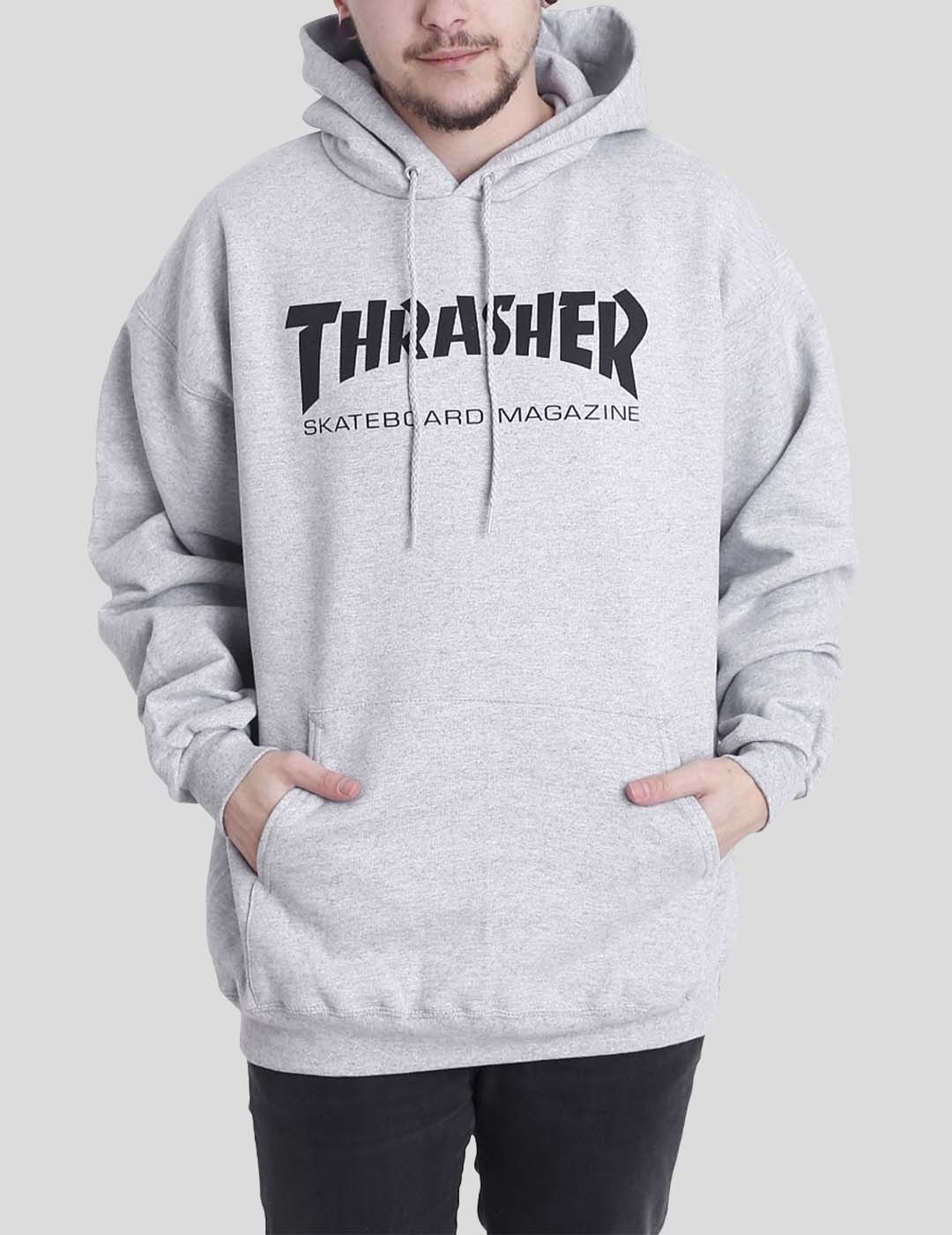 SUDADERA THRASHER SKATE MAG HOOD GREY