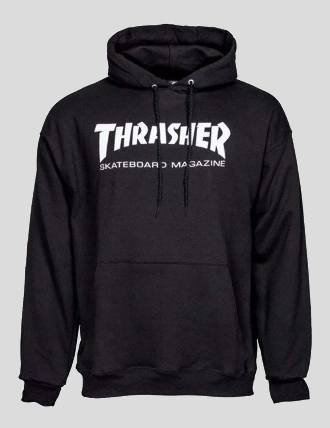 SUDADERA THRASHER SKATE MAG HOOD BLACK