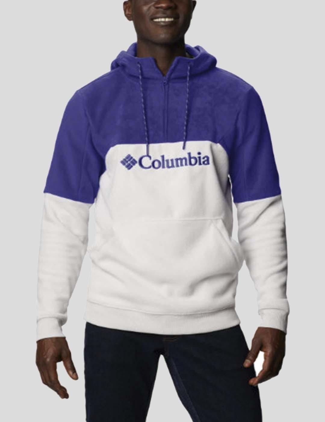 CHAQUETA COLUMBIA LODGE II FLEECE HOODIE PURPLE WHITE