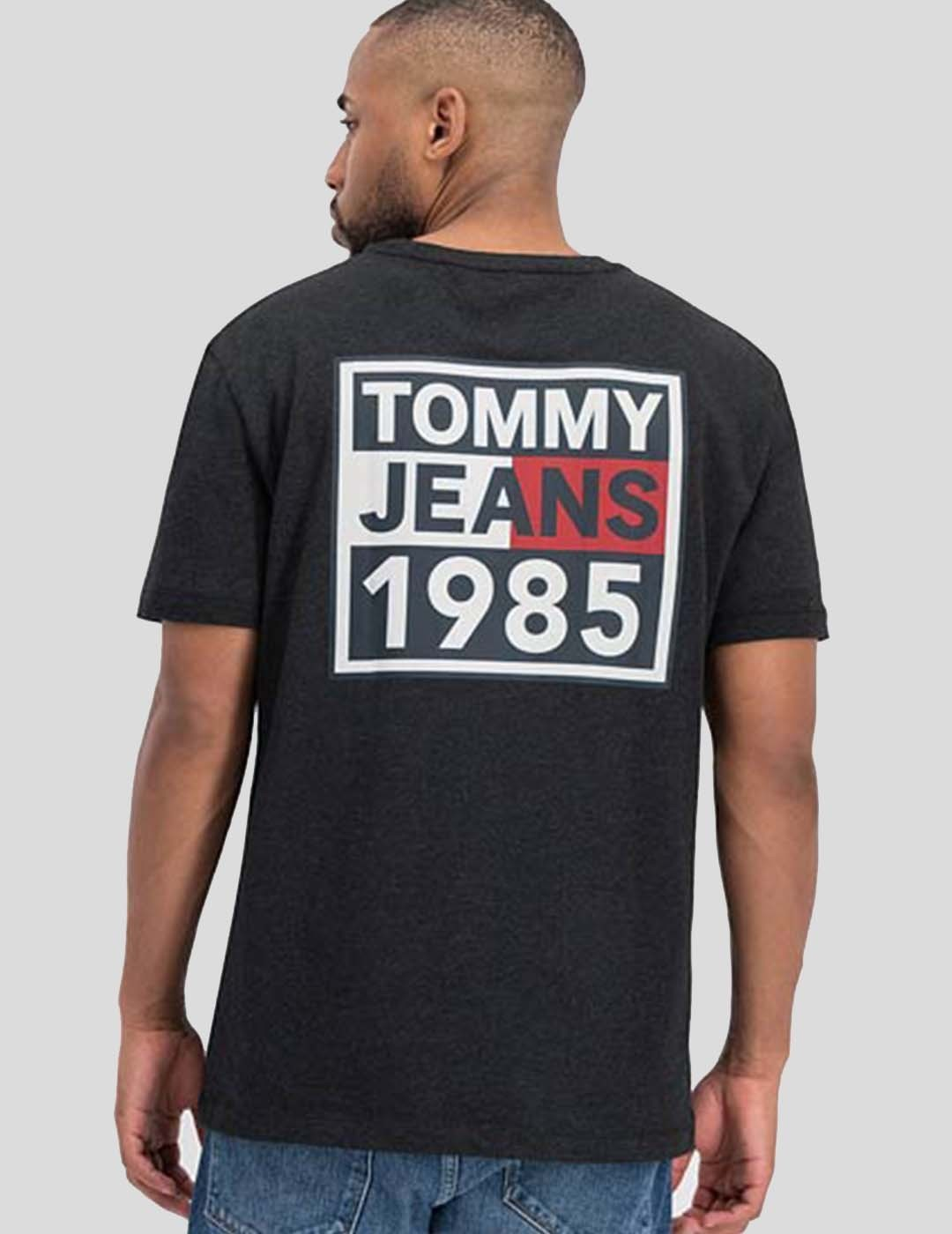 CAMISETA TOMMY JEANS FRONT AND BACK GRAPHIC TEE BLACK