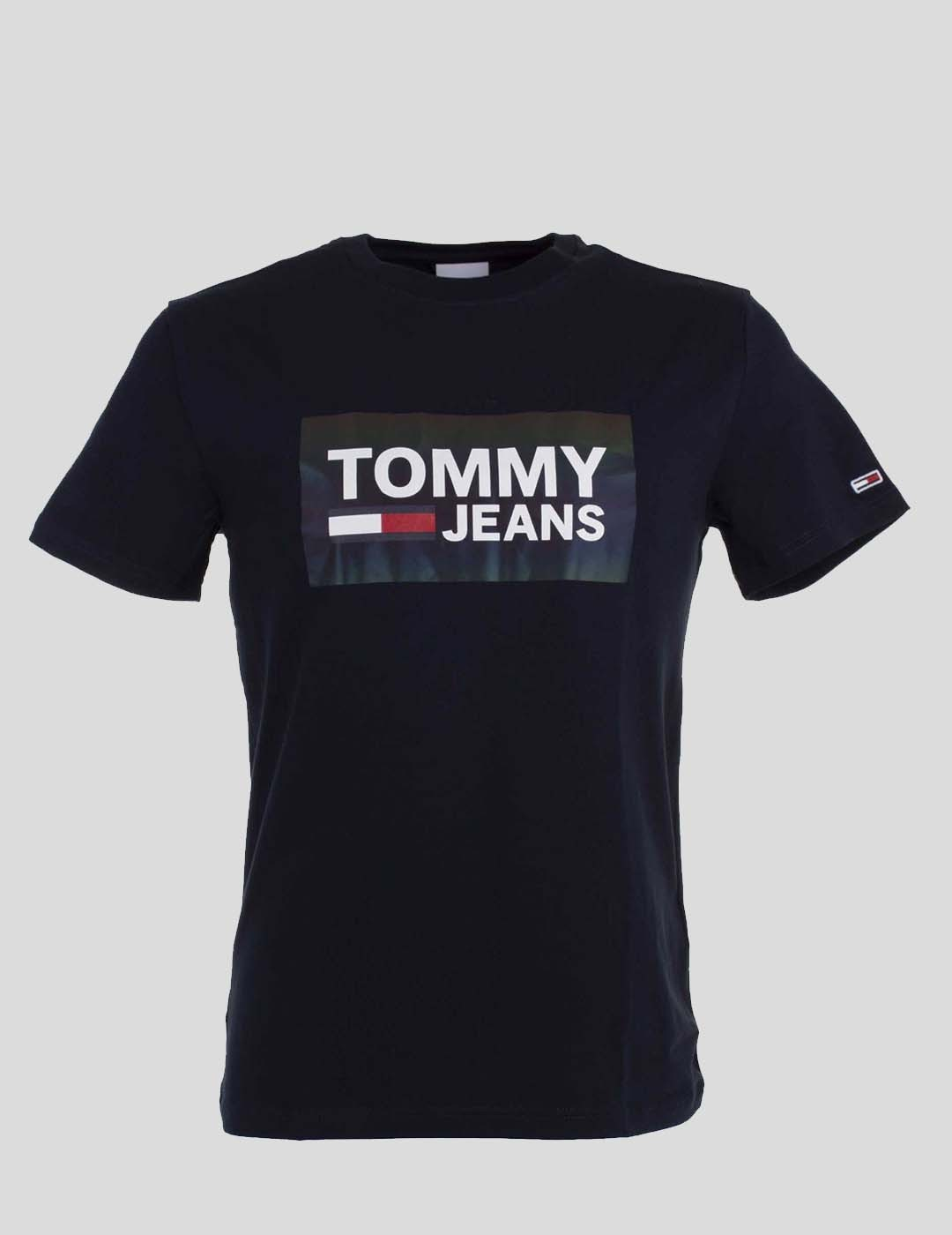 CAMISETA TOMMY JEANS STRETCH TEE CENTRE LOGO BLACK