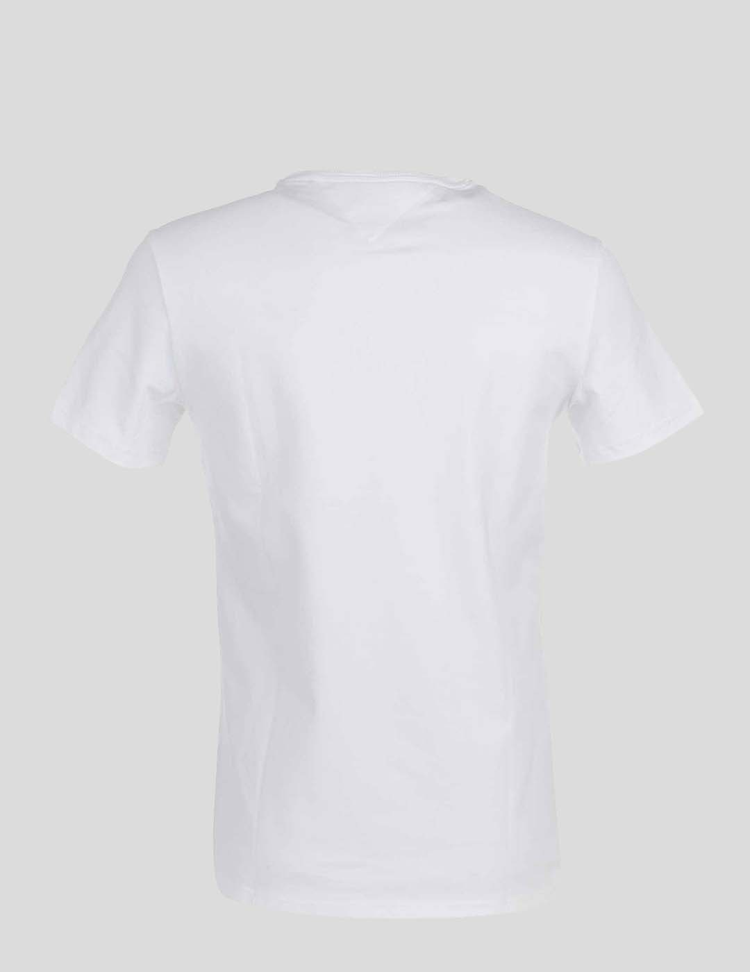 CAMISETA TOMMY JEANS STRETCH TEE CENTRE LOGO WHITE