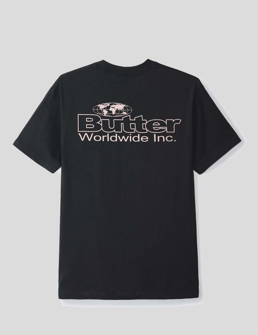 CAMISETA BUTTER GOODS INCORPORATED LOGO TEE BLACK