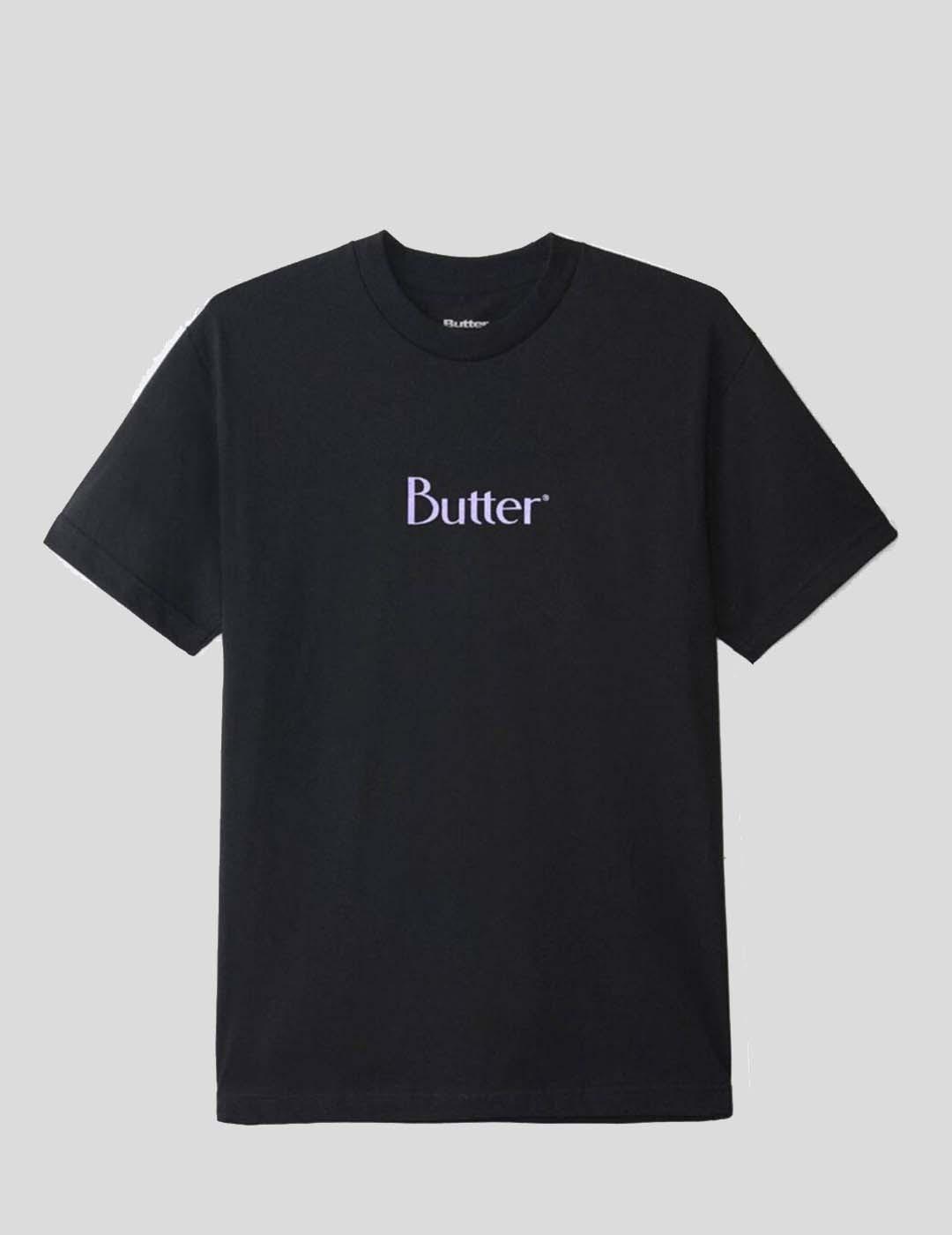 CAMISETA BUTTER GOODS CLASSIC LOGO TEE BLACK