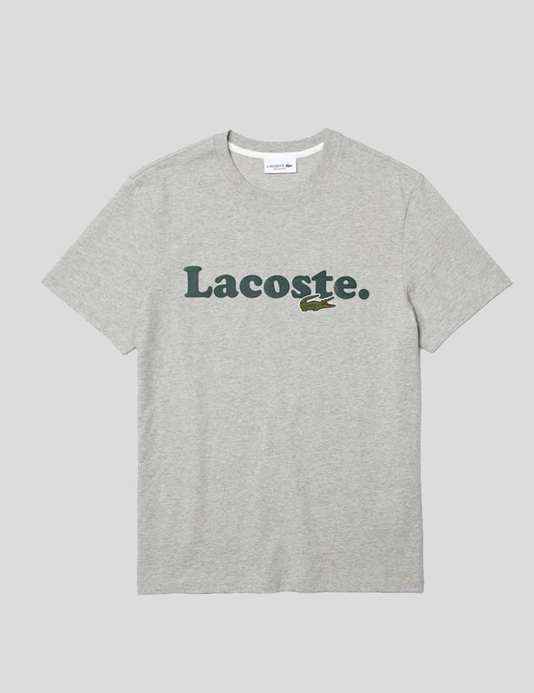 CAMISETA LACOSTE LOGO COCODRILO ARGENT CHINE