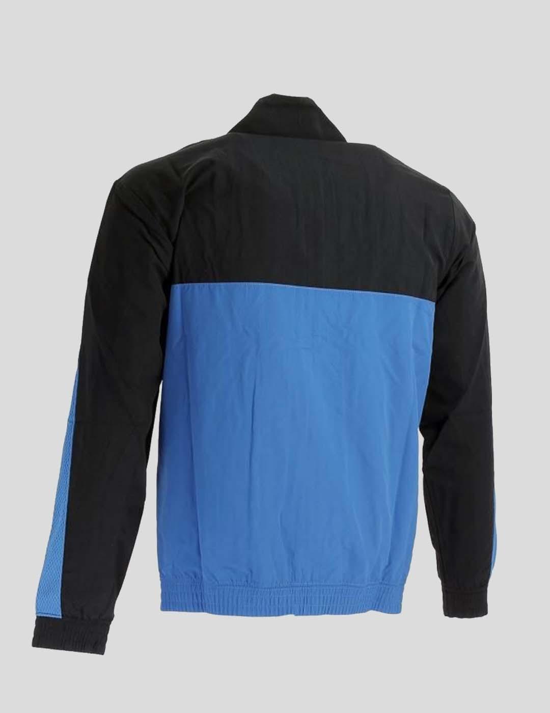 CHAQUETA CHAMPION  ZIP-UP COLOUR BLOCK AND STRIPE TRACK JACKET BLUE BLACK