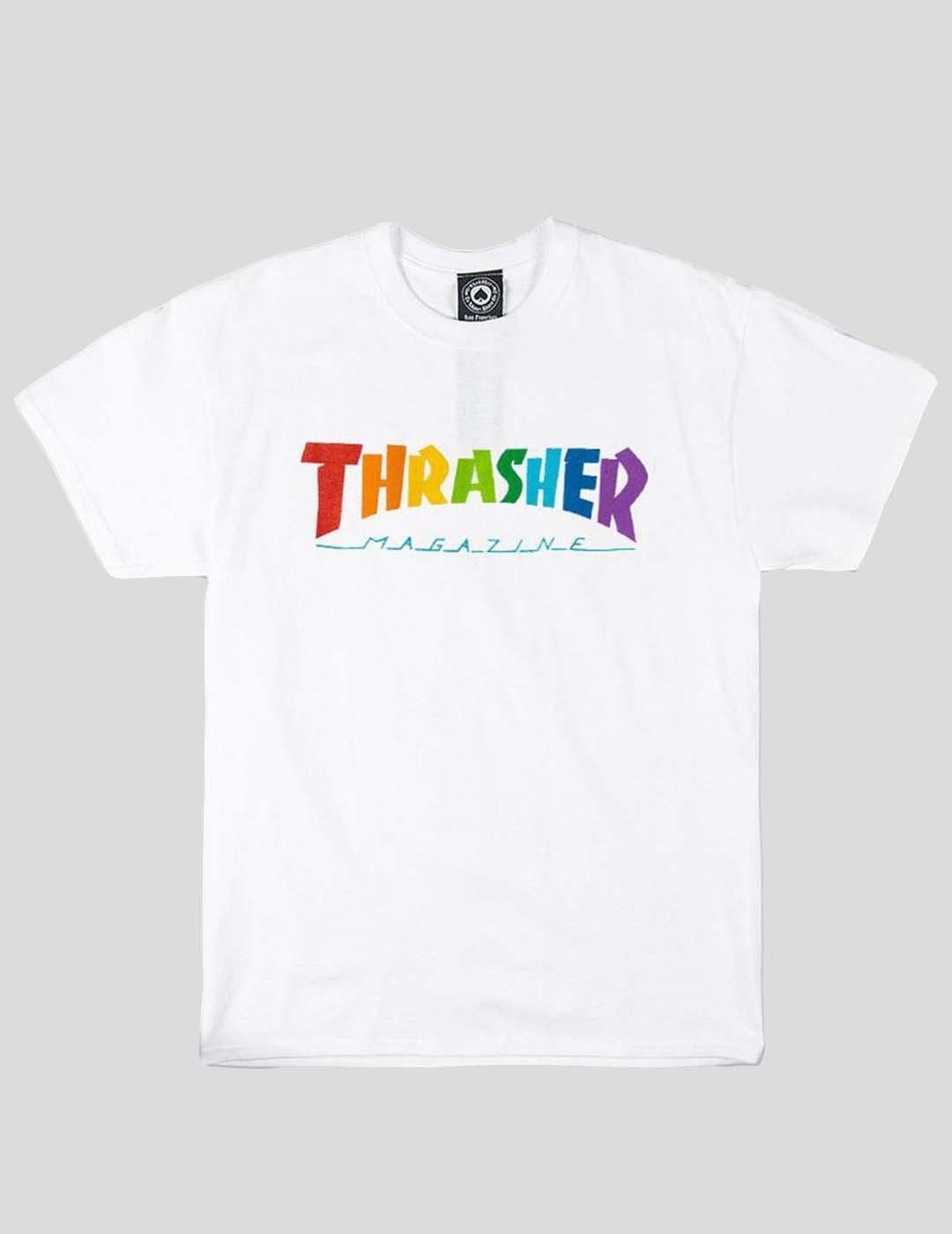 CAMISETA THRASHER RAINBOW TEE WHITE
