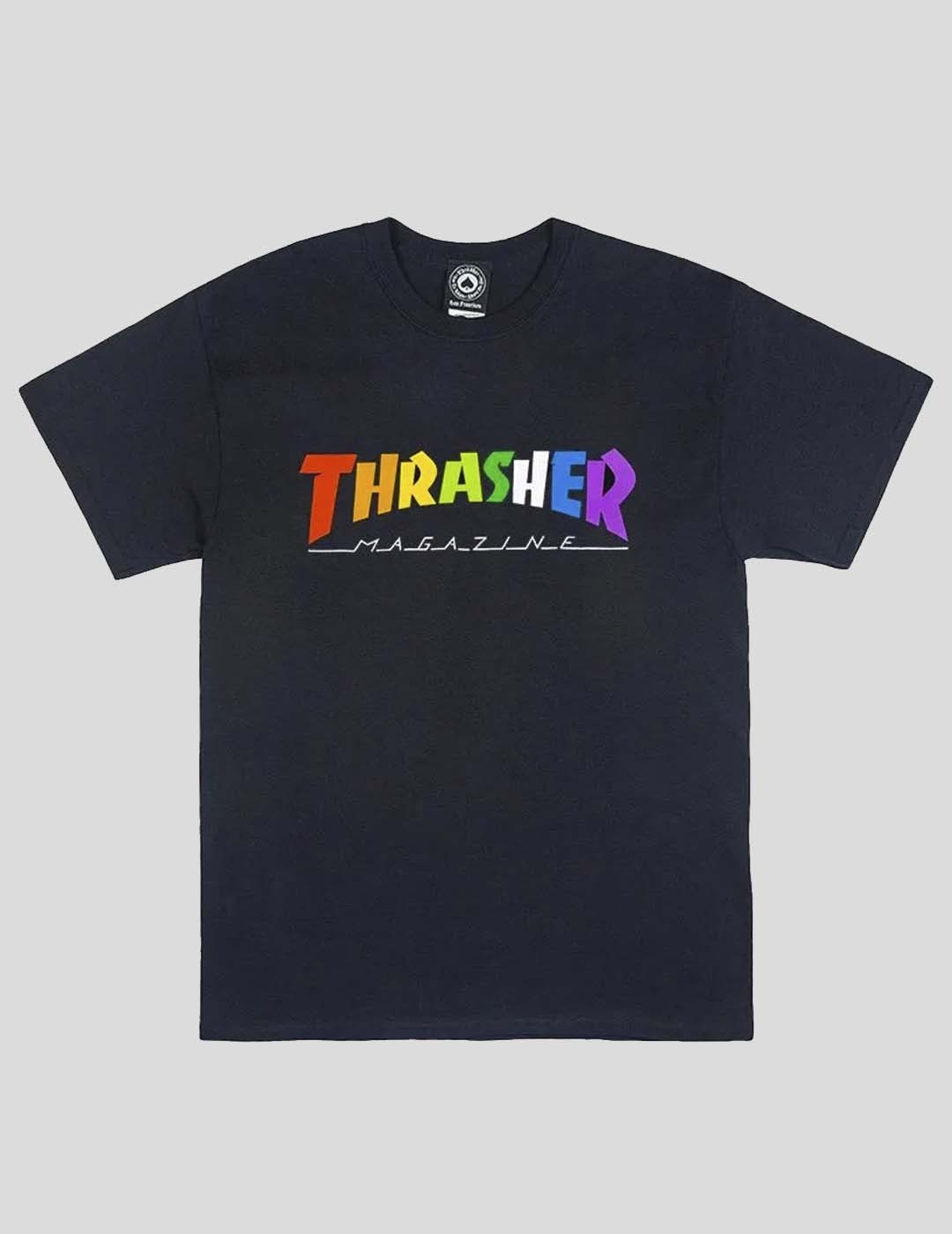 CAMISETA THRASHER RAINBOW TEE BLACK
