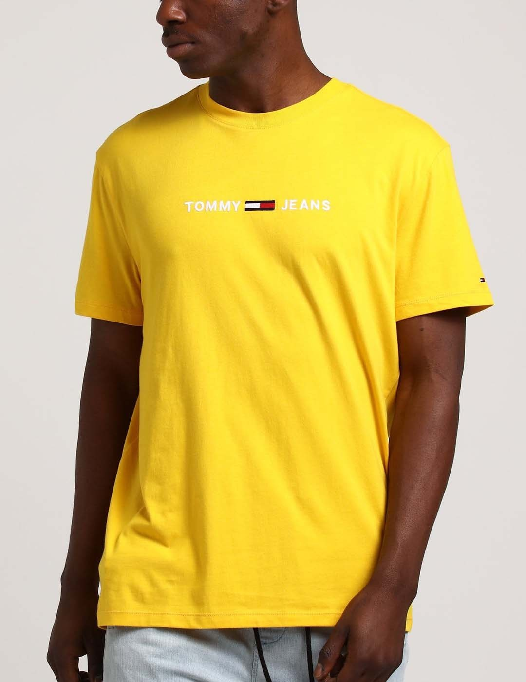 CAMISETA TOMMY JEANS STRAIGHT LOGO TEE VALLELY YELLOW