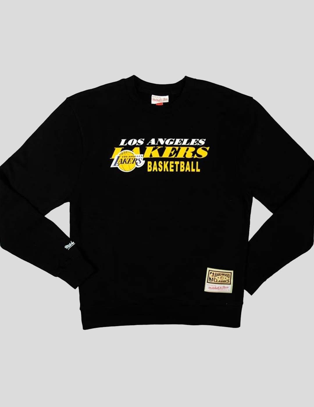 SUDADERA MITCHELL & NESS LA LAKERS HWC PRINT CREW BLACK