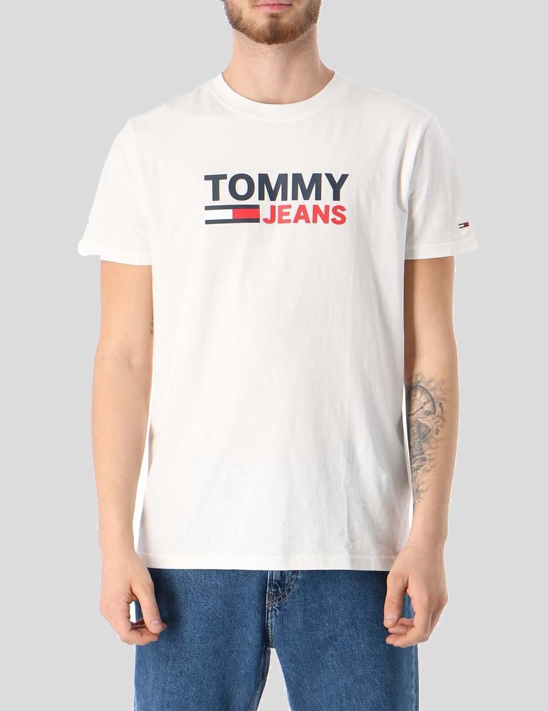 CAMISETA TOMMY JEANS CORP LOGO TEE WHITE