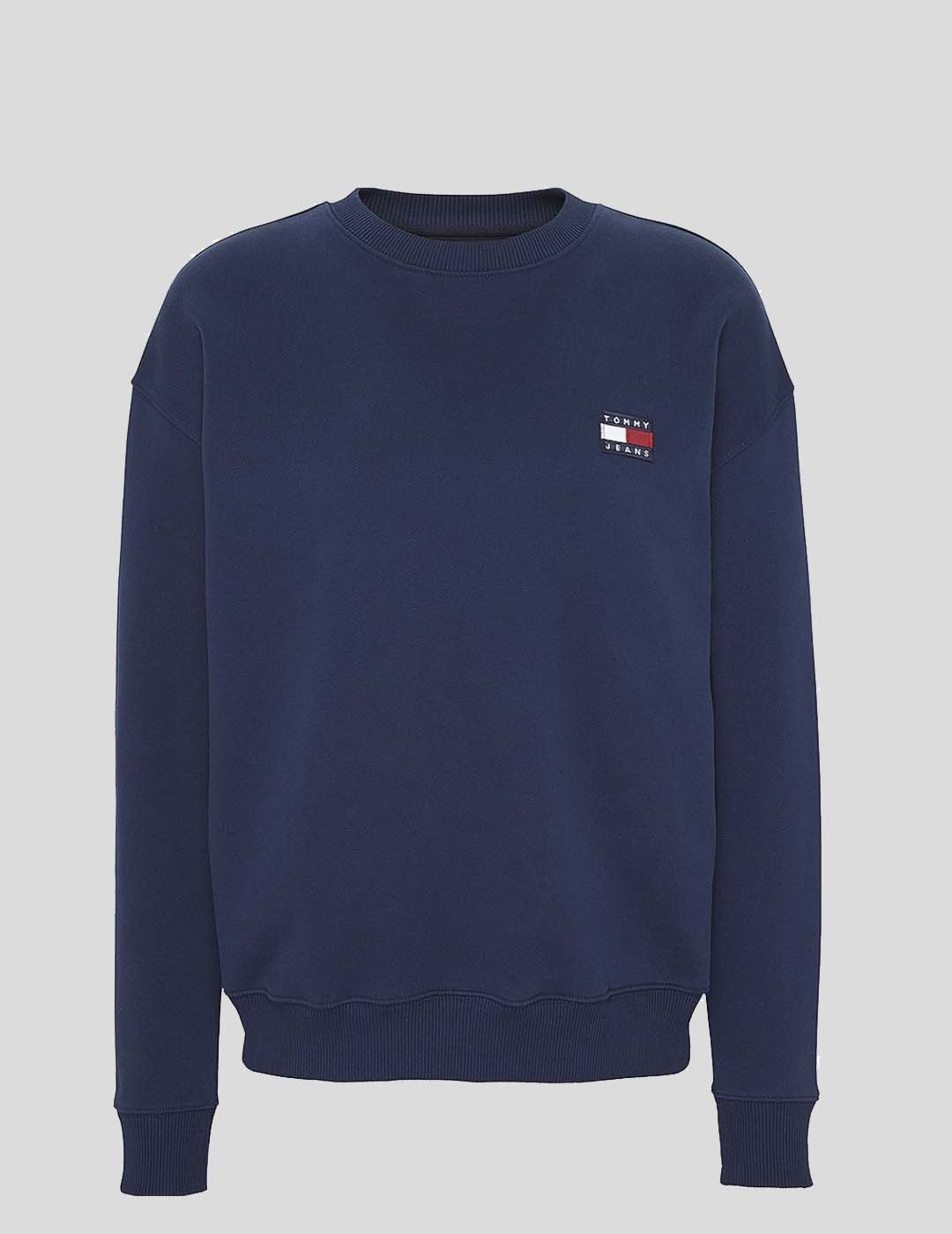 SUDADERA TOMMY JEANS TOMMY BADGE CREW NAVY
