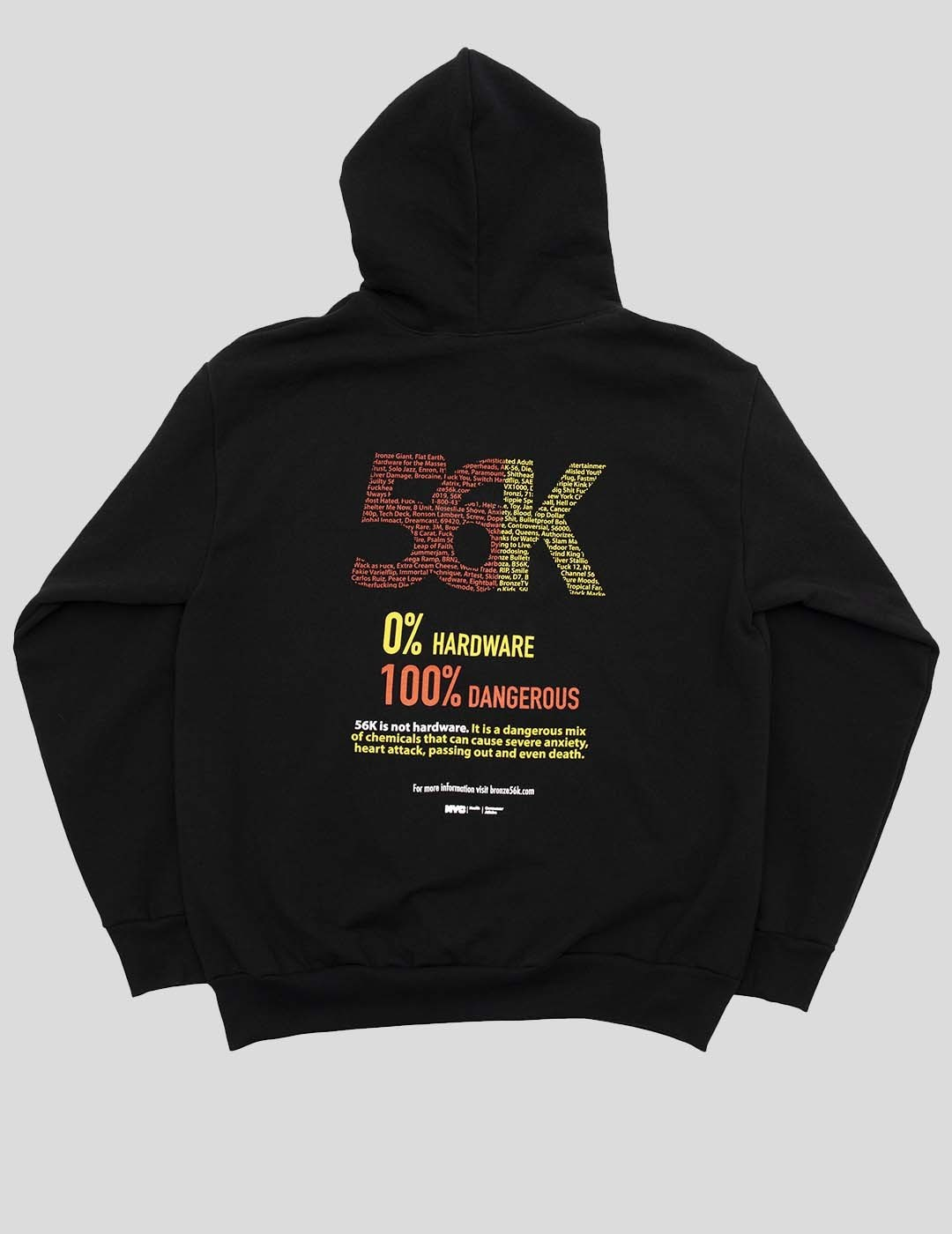SUDADERA BRONZE 56K 56K2 HOODY BLACK